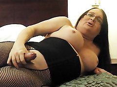 Sexy Wendy masturbating in stockings
