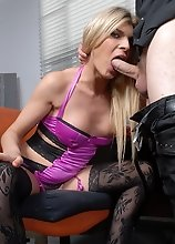 Gorgeous Angelina having nasty office sex