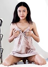 Sally is a slim and petite Thai tgirl with nice big boobs and long cock! Watch this TS doll posing and stroking her cock until she cums!