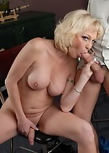 Blonde hottie Olivia having sweet oral with TJ