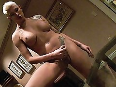 Amazing Danni precums and pees