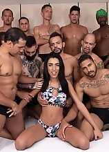 Alice Marques's 11 Man Gangbang & Creampie