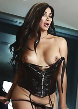 Rock hard Vaniity in leather corset